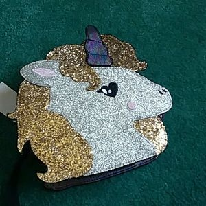 Betsey Johnson unicorn wristlet NWT